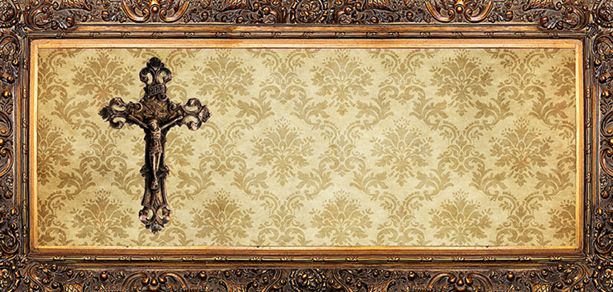 Damask Cross Cap Panel Insert