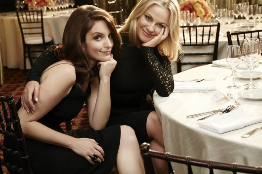 Amy Poehler and Tina Fey 2015 Golden Globes