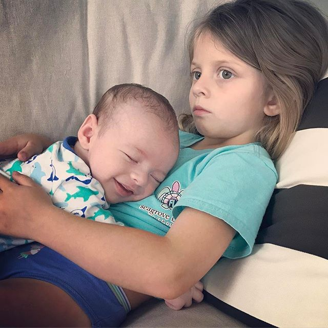 Big Sissin' is hard work! Brb heart is exploding... 💓💓 #bigsister #bestbrother