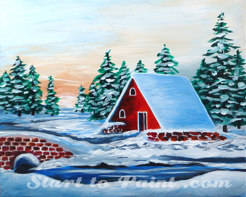 Red Winter Cabin.jpg