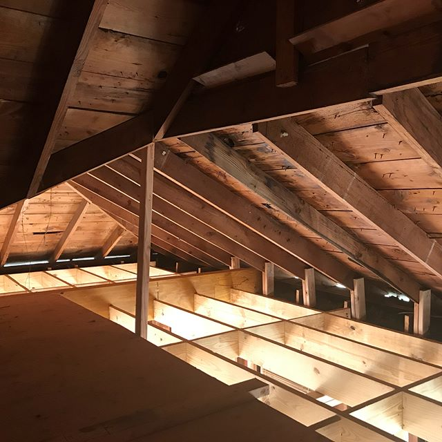 A few shots from our site visit at our newest #hollywoodheights remodel. Currently working out plumbing and framing- part of our project is finishing out the attic to be a very fun guest space with lots of sloping ceilings and fun corners. Can't wait to see more!