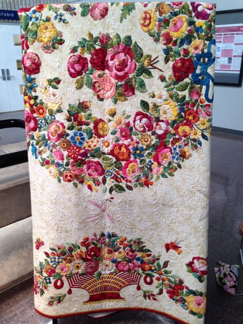 Some of the amazing quilting we were able to see at the show.  This piece was hand appliquéd and hand quilted. I am humbled!