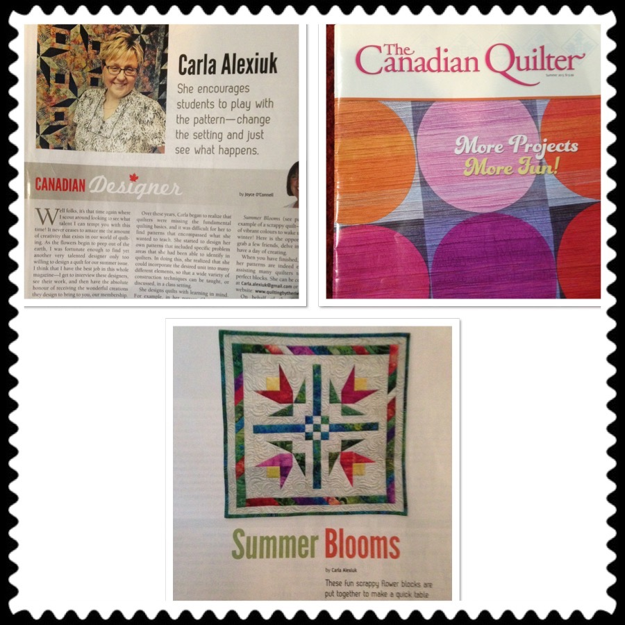 To purchase a copy (if you are not a member) go to www.canadianquilter.com