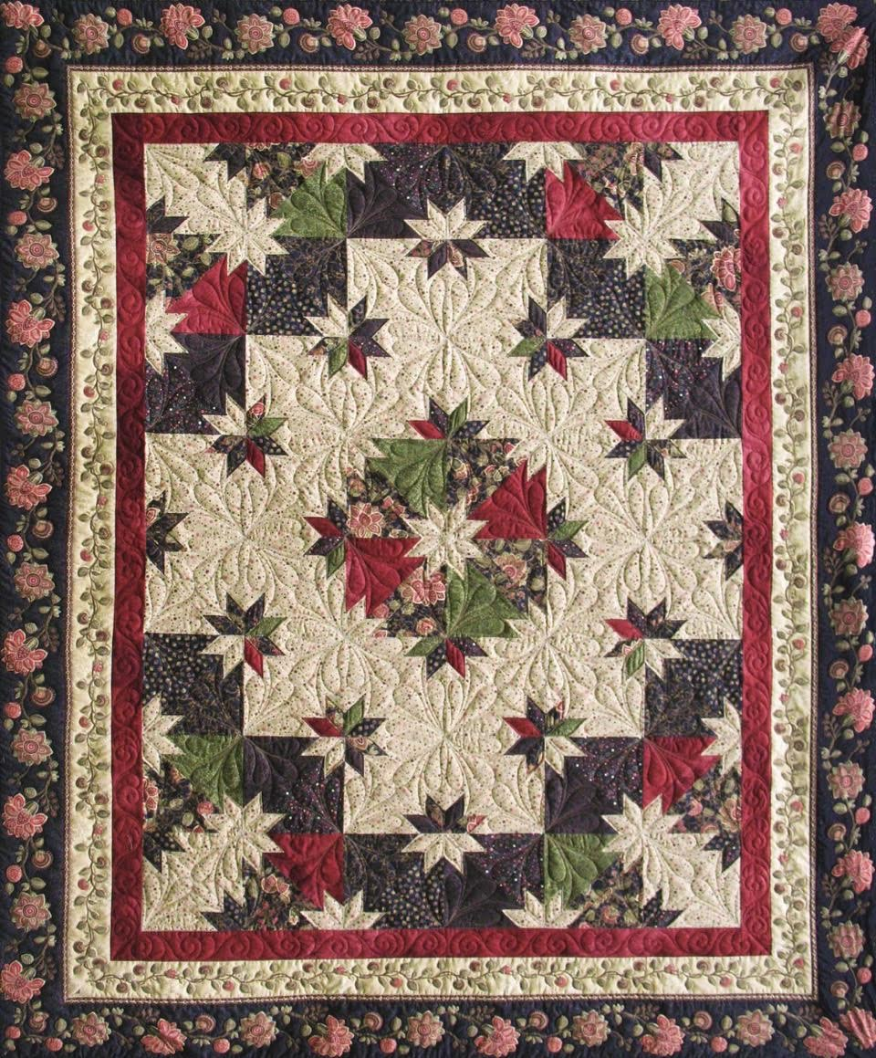"""La Belle"" Designed and pieced by Deborah Kanenty,  Quilter's Obsession"