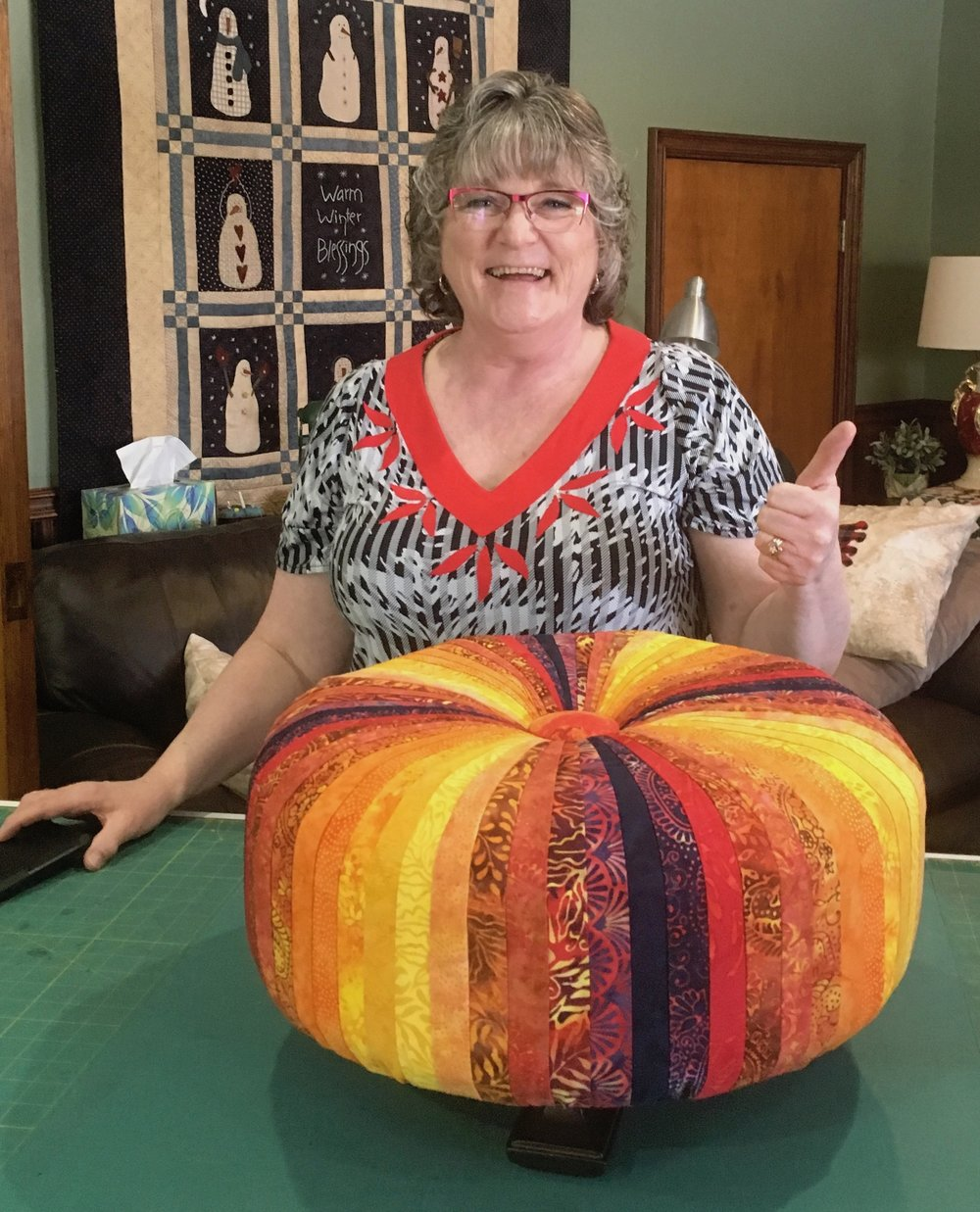 Diane Jenner with her Tuffet.jpg