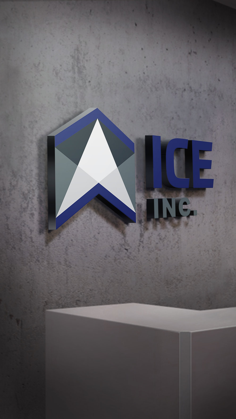 The New ICE Inc. logo projects strength, trust + reliability. -