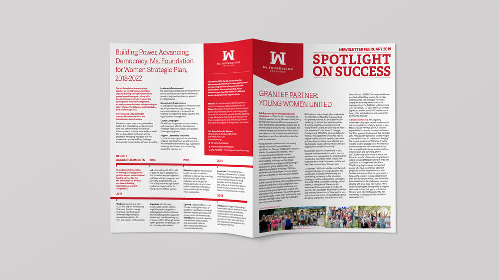We kicked off a new periodical called Spotlight on Success - Each issue will highlight a grantee partner, and further illustrate the strategic goals of the organization.