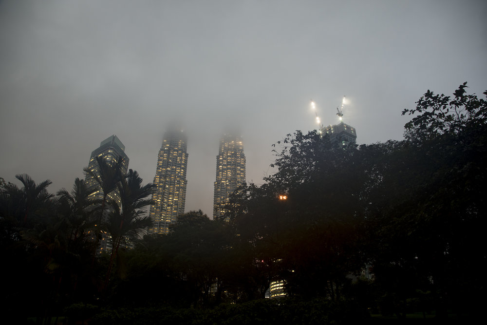 KL Petronas Towers in Fog, 2017