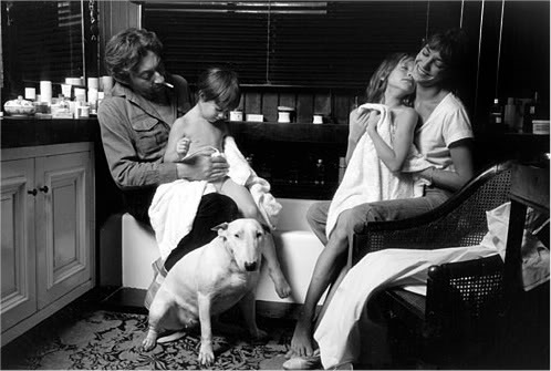 Serge, Charlotte, Kate and Jane in Paris, 1976