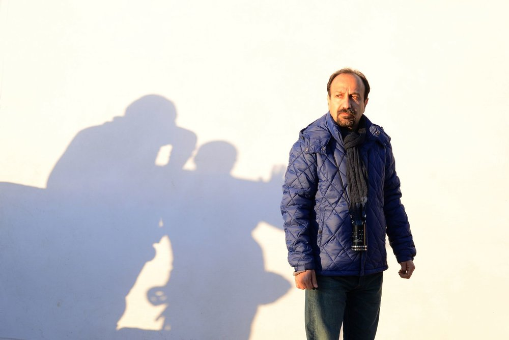 Asghar Farhadi, on the set of  The Salesman