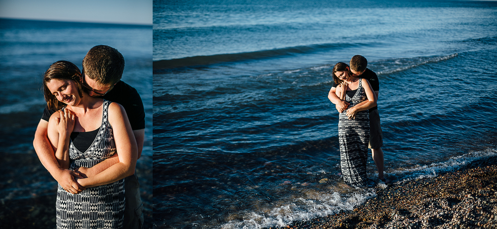 Steven & Jessica in the water in Lake Superior - Corrie Mick Photography.jpg
