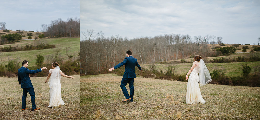 Cute wedding couple during first look by Corrie Mick Photography.jpg