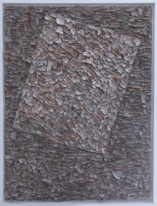 "Nesting   tree bark on canvas 36"" x 48"""