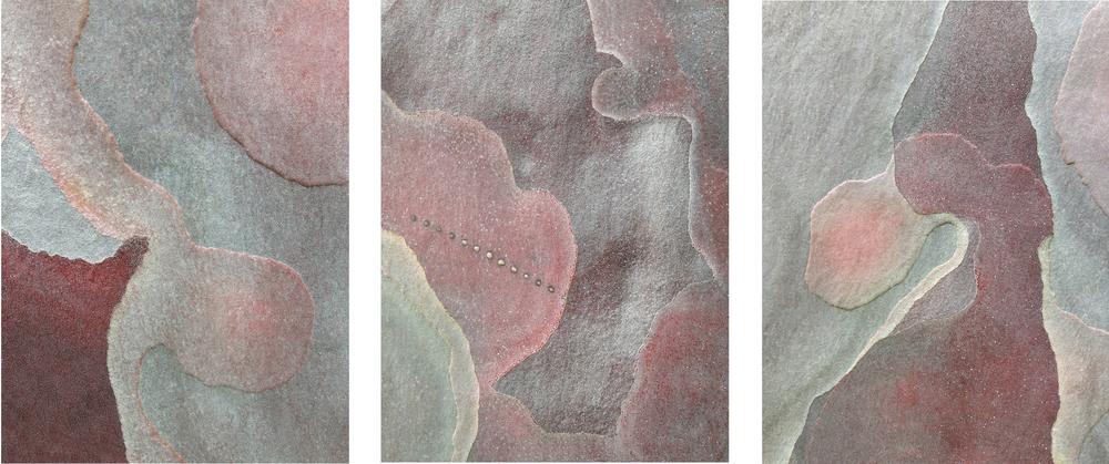 """Triptych #8 eucaltyptus bark 3 - 16"""" x 20"""" prints"""