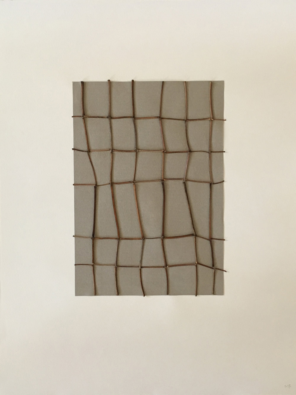 "Untitled   sticks on paper 14"" x 18"""