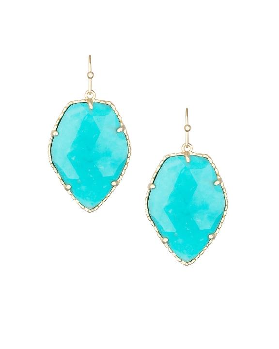 A vibrant earring