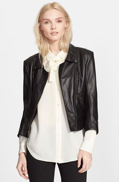 Theory Leather Jacker