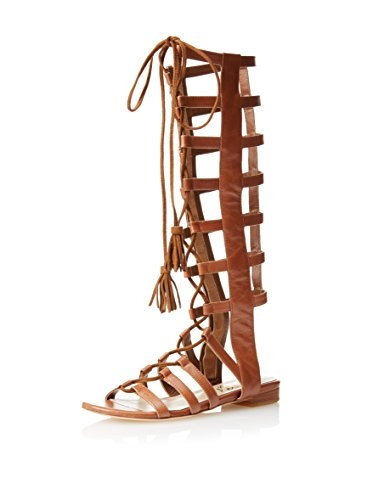 Cognac Gladiator Sandals