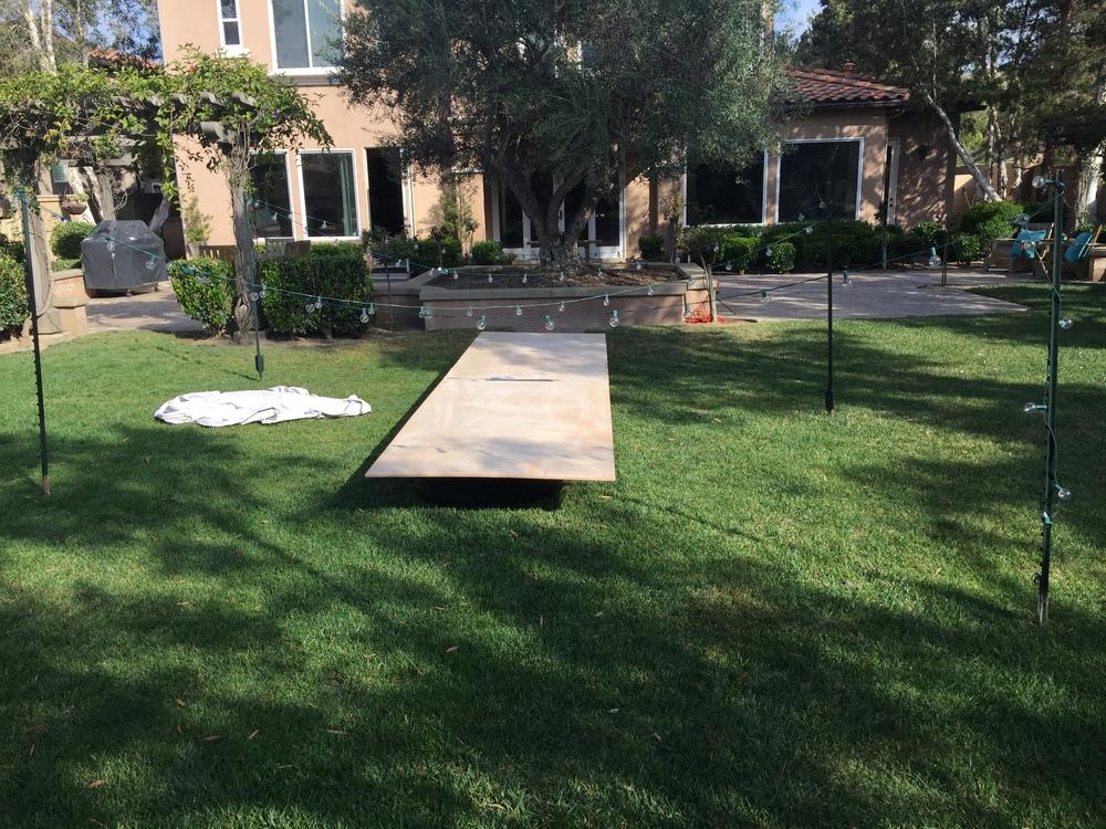 Backyard Party Set-Up
