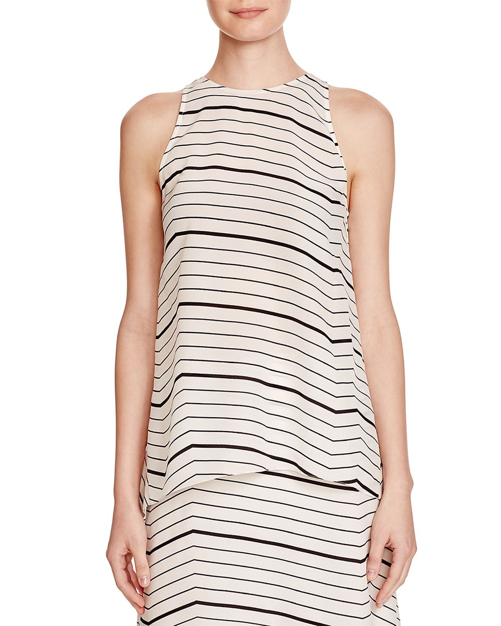 Theory Kalstinn Silk Striped top