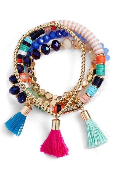 Bright Tassel Bracelet