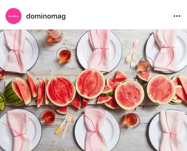 Tablescape by Domino Magazine
