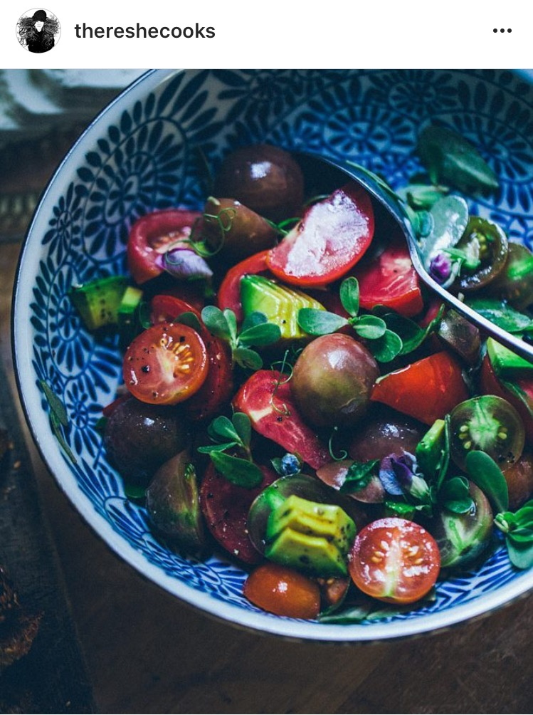 Tomato and Avocado Salad | There She Cooks