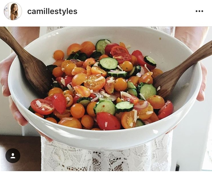 CamilleStyles | Tomato and Cucumber Salad