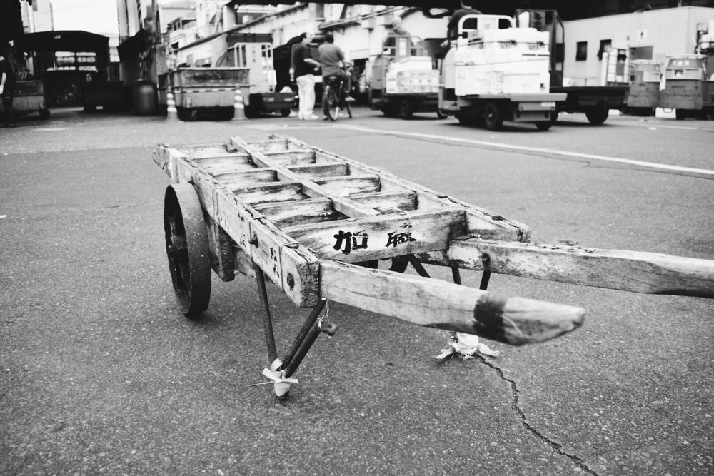 Cart at Tsukiji Market