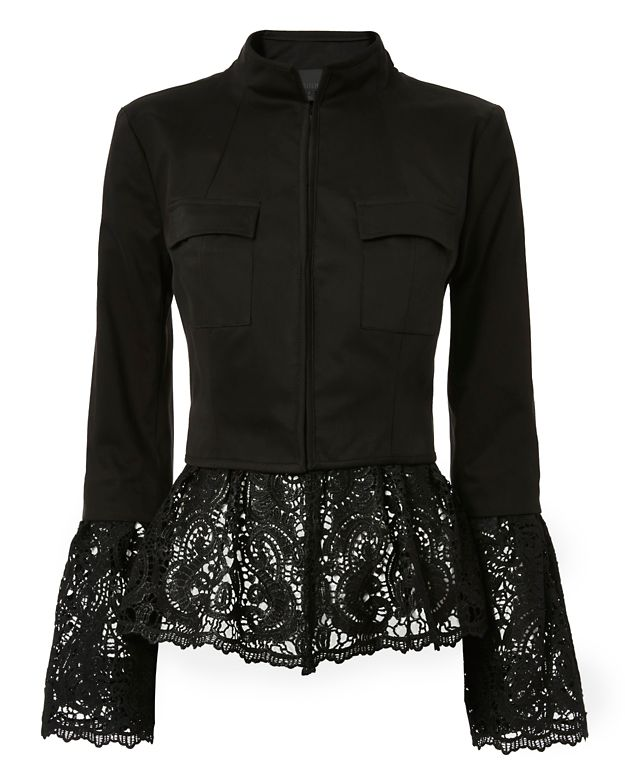 Exclusive for Intermix Tae Crochet Detail Jacket