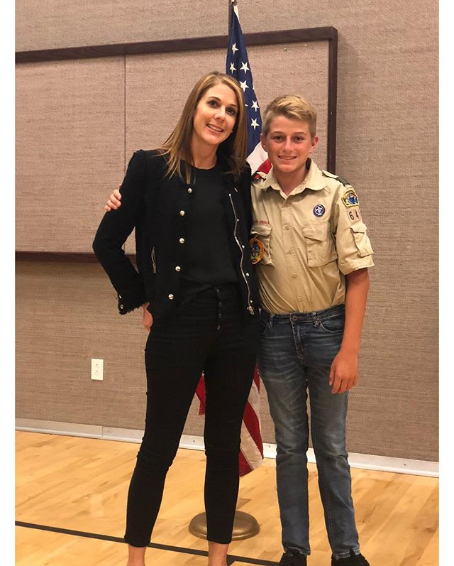 Court of Honor • Dieter is officially officially a First Class Scout and on the Eagle Trail.  He is following his dad, Brittain, and Thomas to the #eaglenest.  He camped more nights than all of them combined I think.  In my estimation I'm 60% done with all of my scout mom duties in life.  #eaglescout #Dieter8 #camped1millionnights  #thingsthemensay • I can't pin this on your jacket it's too wooly 🐑🐑🐑 •