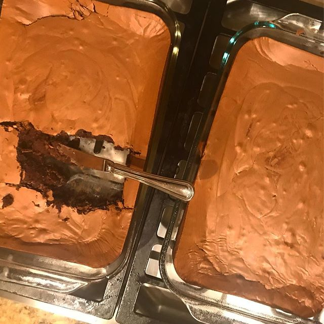 I made @tartinebakery brownies for our #generalconference watching this weekend.  Too bad we had a bear in the campground paw 🐾 out a serving for himself.  #FeedingMen