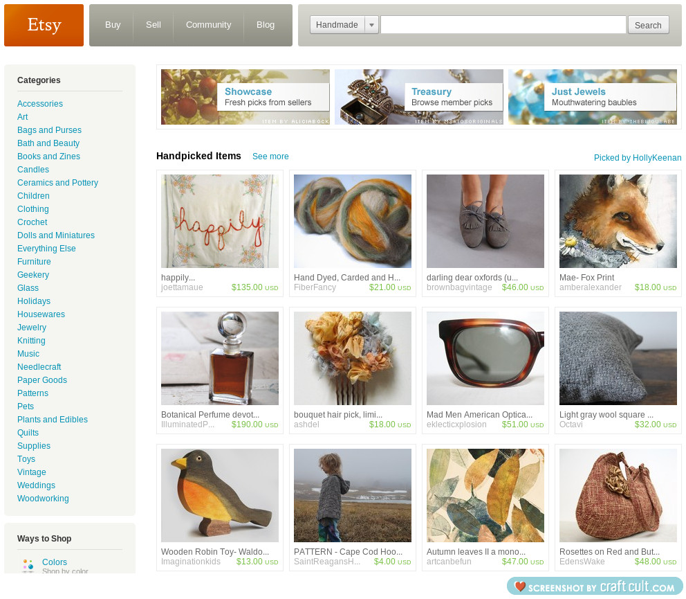 My treasury on the front page of etsy!