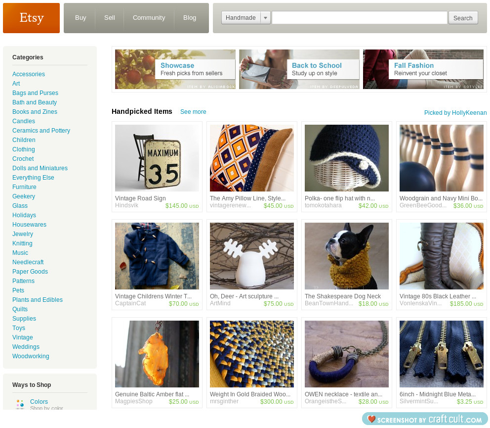 My treasury was on the front page of etsy this morning! click to see.