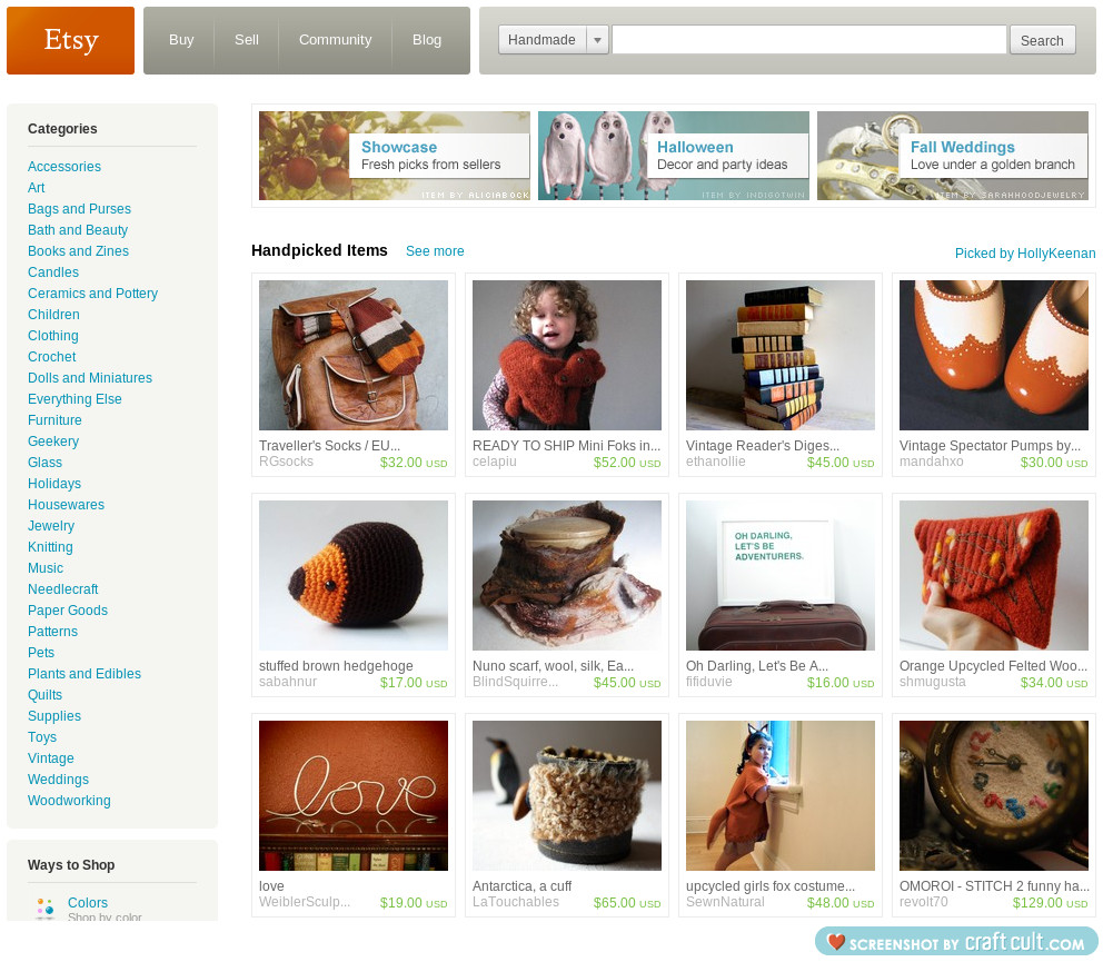A new treasury on the front page of etsy!