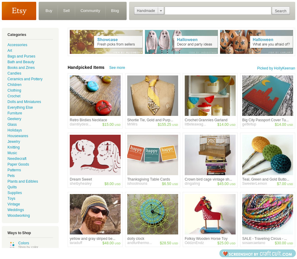 my 'Happy Happy Happy' treasury on the front page of etsy!
