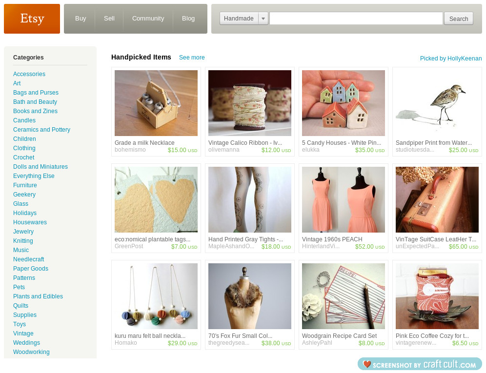 oh yaaaay my treasury was on the front page early this morning. Woo hoo!