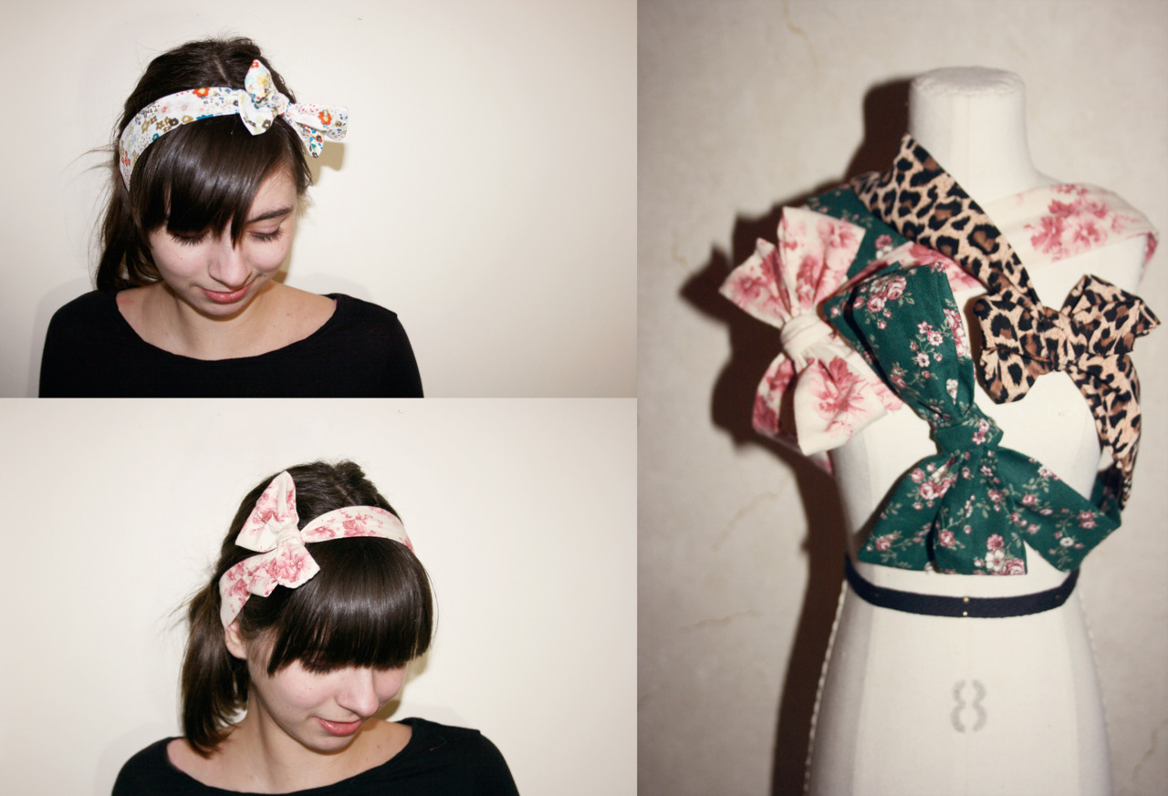 Here is todays batch of new shop items. Bow headbands made from scrap and vintage fabrics.  More additions tomorrow….