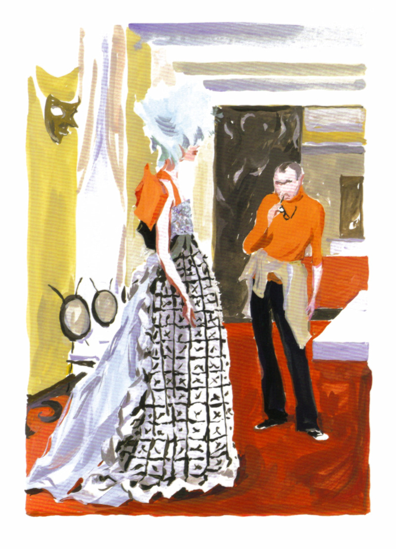 emariam: Original illustration of Christian Lacroix for Madame Figaro, 2003 Illustration by Jean-Philippe Delhomme scanned by me