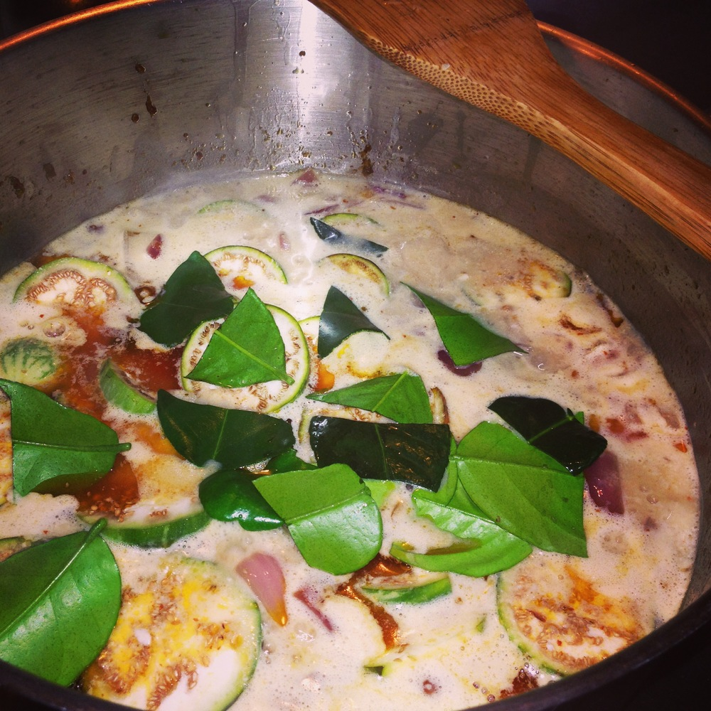 Thai Red Curry with Fresh Lemongrass & Kafir Lime Leaves from My Greenhouse