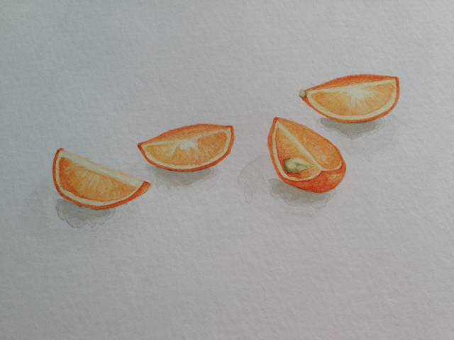 Watercolor, Fukushu Kumquat