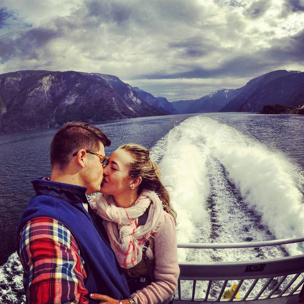 Our 1-year anniversary spent on the Songnefjord, Norway