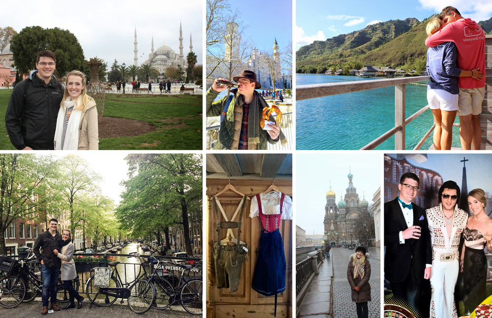 Various travels: Istanbul, Germany, Tahiti, Amsterdam, St. Petersburg, and Las Vegas
