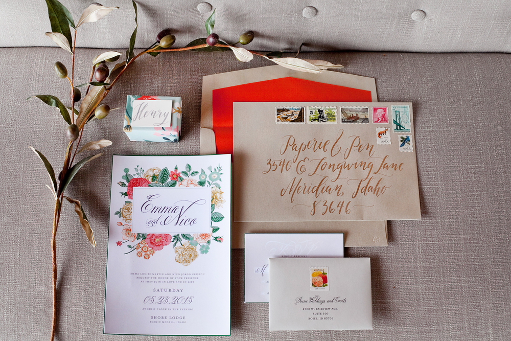 Invitation Suite: Paperie + Pen      Photo: Tana Photography