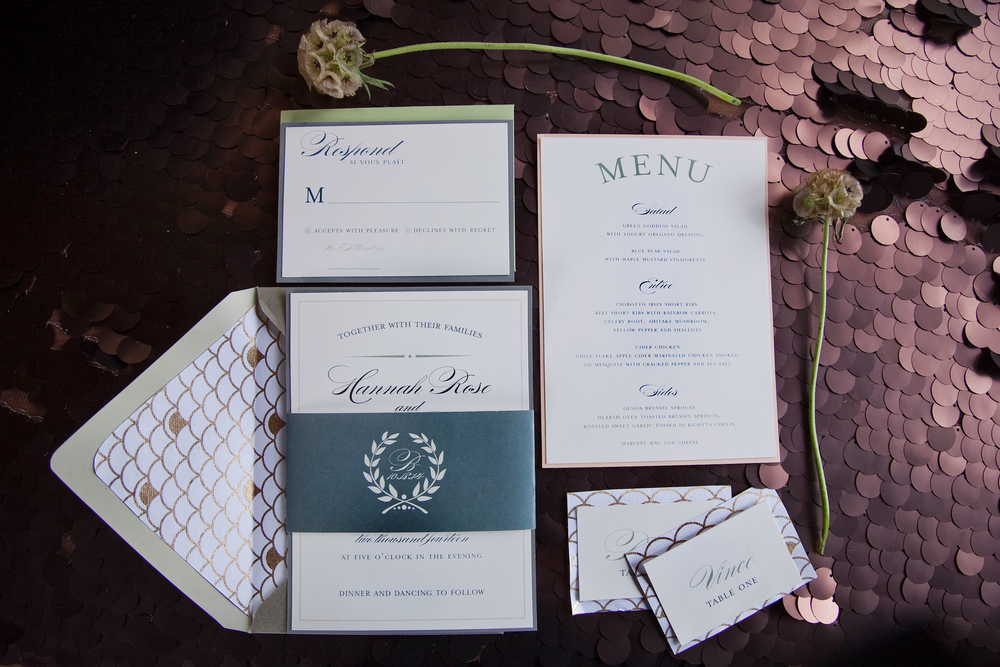 invitation Suite: Paperie + Pen    Photography: Tana Photography