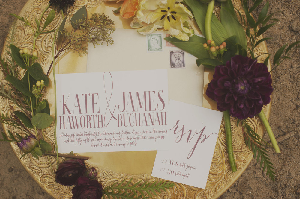 Invitation Suite: Bliss Events      Photography: Ellie Asher