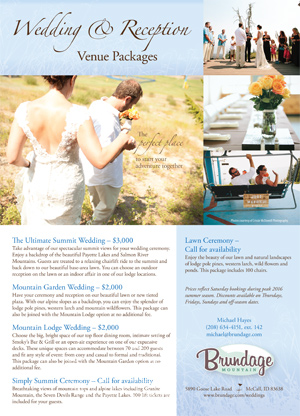 Brundage Wedding Flyer
