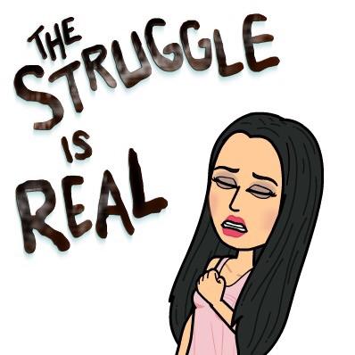 the struggle is real Lauren
