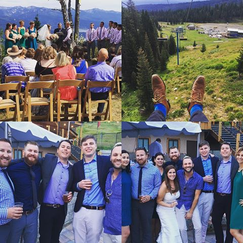 Another beautiful wedding weekend in the books! Congratulations Dani and Eric! #idahoido  #brundage  #idaho  #idahogram  Brundage Mountain Resort