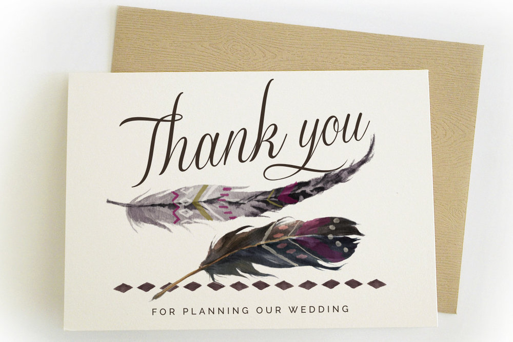 thank you wedding planner